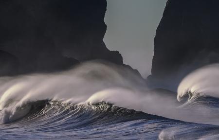 太平洋沿岸海浪风景3440x1440壁纸