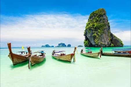大海 岩石 独木舟 4k风景图片